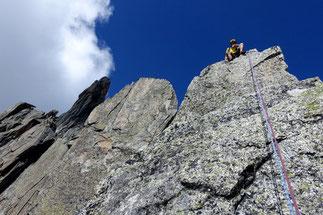 Mehrseillängen Klettern Winterstock Furka