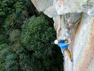 climbing in Ticino, coaching und Technikkurs Klettern