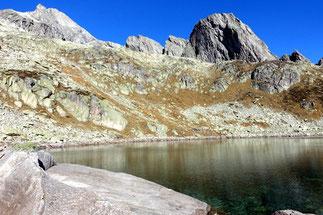 Alpines Klettern Schijenstock Südgrat mit Bergseeschijen
