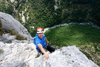 Mehrseillängen Klettern Verdon
