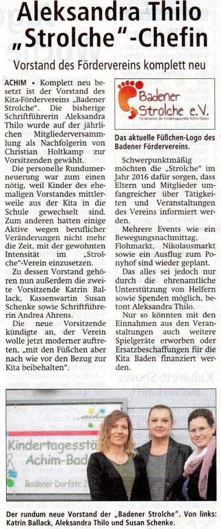 Achimer Kreisblatt 02.12.2015