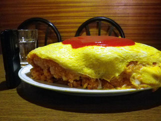 are you really ready for this? Big omurice in Kyoto