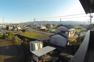 アパート北棟から北東側(セブンイレブン三島平田側)