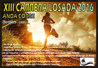 XIII CARRERA DE LOSADA - Losada, 13-08-2016