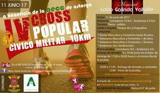 IV CROSS POPULAR CIVICO MILITAR MEMORIAL CABO GALINDO VALTUILLE - Astorga, 11-06-2017