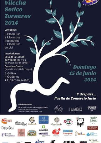 III CARRERA SOLIDARIA LOS CHOPOS - Vilecha, 15-06-2014