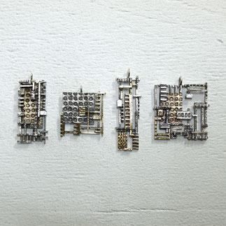 真鍮とシルバーのペンダントトップ
