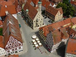 Marktplatz vom Kirchturm aus