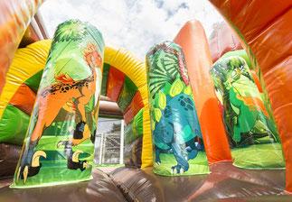 Hüpfburg Dino Park mit Rutsche | Hüpfburgen Niederrhein in Mönchengladbach