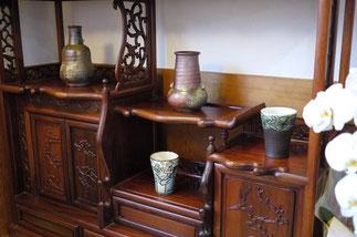 器と珈琲 Lien りあん のギャラリー: 沖縄陶器へ