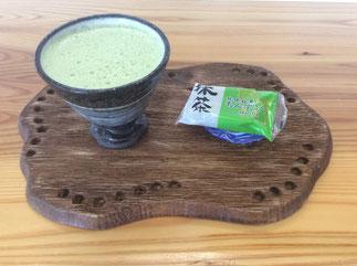 器と珈琲 Lien りあん のカフェメニュー: 抹茶オーレ