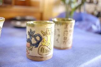 器と珈琲 Lien りあん のギャラリー: 沖縄陶器 稲福哲雄氏の作品