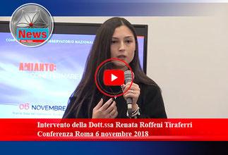 Intervento della Dott.ssa Renata Roffeni Tiraferri - Conferenza Roma 6 novembre 2018