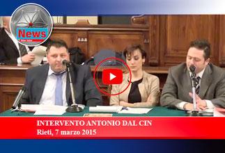 INTERVENTO ANTONIO DAL CIN - Rieti, 7 marzo 2015