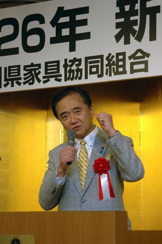 出席者に元気を与えた黒岩神奈川県知事