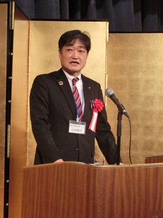 乾杯の音頭、神奈川県産業労働局山田健司局長。