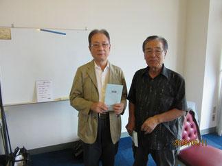 第73回優勝者、田中利隆氏と横内会長