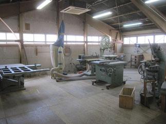 工房の木工機械(2階)