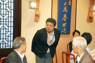 新たに理事に選出された横内真樹氏。(前監事)