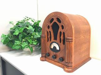ハセガワ木工所製作・ACテクノロジーズ企画メカ製造   「レトロなラジオ」