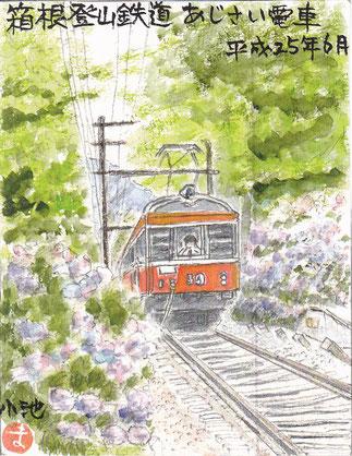 あじさい電車箱根登山鉄道