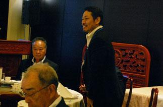 新たに監事に選出された野崎義嗣氏(マカロニデザイン)