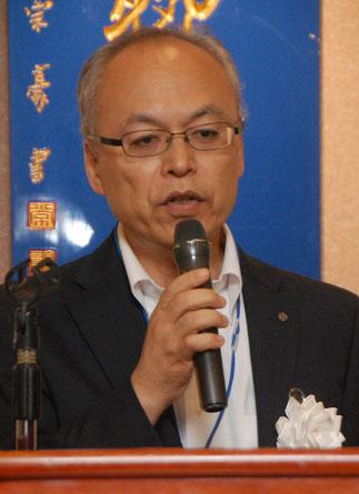 来賓挨拶の中央会 西村明夫専務理事