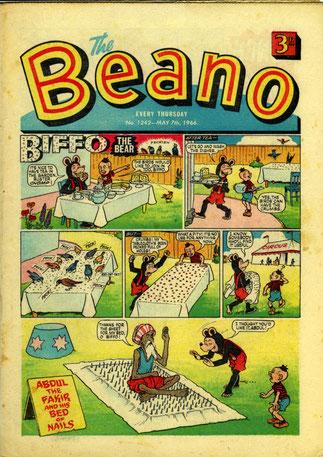 Le Beano n°1242 du 7 mai 1966 que lisait Clapton.