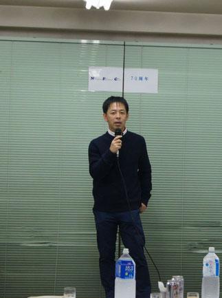 顧問を代表して、平山大先生の挨拶。