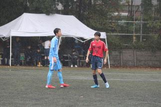 SB羽田亮介。セカンドボールを狙う意識高い。