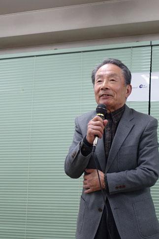 3期寺田格郎名誉会長の祝辞