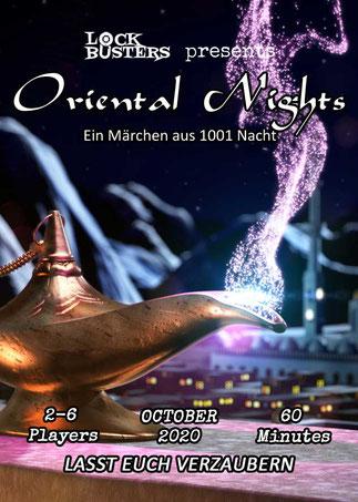 Escape the room bei Lockbusters - Oriental Nights ein Märchen aus 1001 Nacht