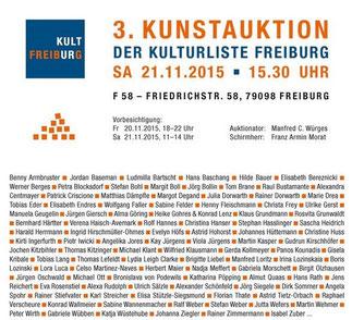 3. Kunstauktion der Kulturliste Freiburg