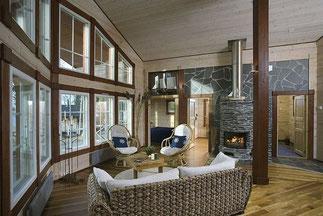 Kamin im Blockhaus - © Blockhaus Kuusamo