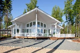 Barrierefreies Wohnblockhaus  - © Blockhaus Kuusamo