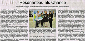 Rosenanbau als Chance. Fairtrade Bad Nauheim
