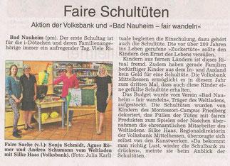 Wetterauer Zeitung 8. August 2017