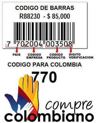 CODIGO DE BARRAS PARA COLOMBIA ES EL 770