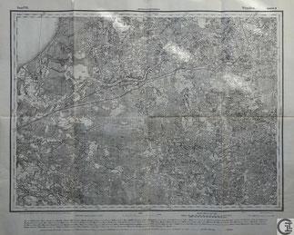Stabskarte Russland, Gouvernement Livland, Region Wenden, Cesis, heute Lettland, Baltikum,