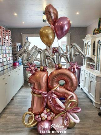 D 022 - Birthday Dream aus hochwertigen Folien-, Helium-, Chrome- & Latexballons - Preis auf Anfrage