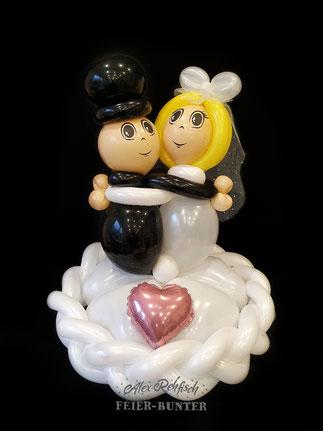 G 003 - Brautpaar auf Herzen ca. 50cm hoch - 32,90€