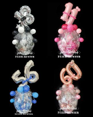 S 002 - Geschenkballon mit Zahl - 28,90€