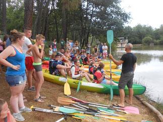 course de canoe sur l'étang - club de saint antoine de breuilh dordogne