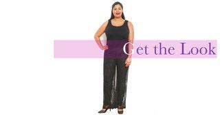 eleganter schwarze Hose in Größe 48