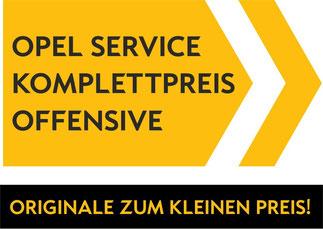 Opel Service Komplettpreis Offensive Autohaus Müller Arnstein