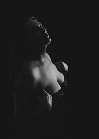 licht bij een boudoir fotosessie