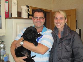 Baddy mit seiner neuen Familie