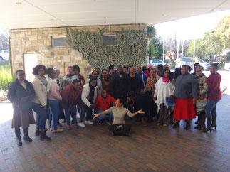 Photo de groupe lors de l'élaboration de la stratégie C4D, UNICEF Lesotho