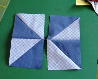 3. Patchwork-Herstellung Windrad.