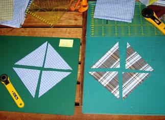 2. Patchwork-Herstellung Windrad.